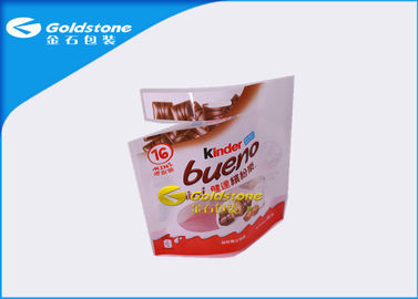 Çin Aluminum Foil Resealable Stand Up Pouches For Chocolate Food Packaging Distribütör