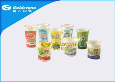 Çin HIPS / PP / Plastic Material Frozen Yogurt Cups , High End Plastic Cups Fabrika