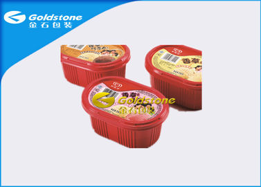 Çin Colorful Printed Disposable Plastic Yogurt Cups Injection / Thermo Forming Type Distribütör